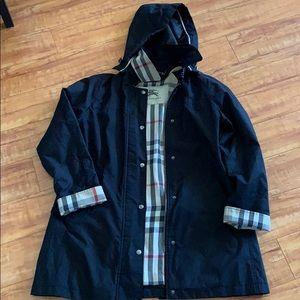Authentic Burberry Rain Coat with hoodie